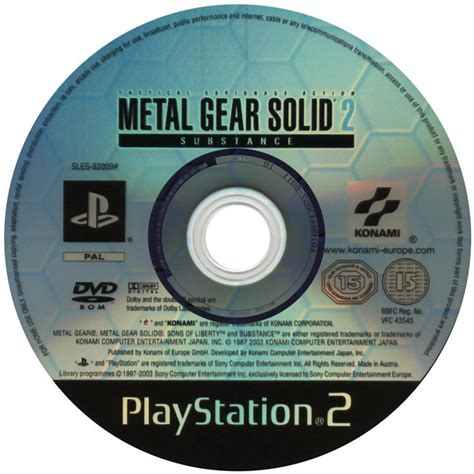 Disk Ps2 Metal Gear Solid 2 Covers Mgs2 Ps2 Playstation 2 Ps3 Playstation 3 Vita Xbox 360 Pc