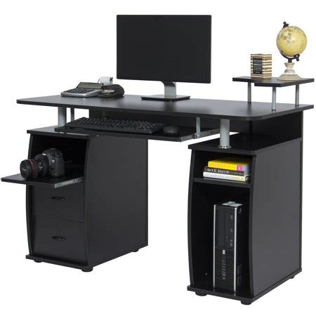 computer desk with tower shelf best choice products work station computer desk home