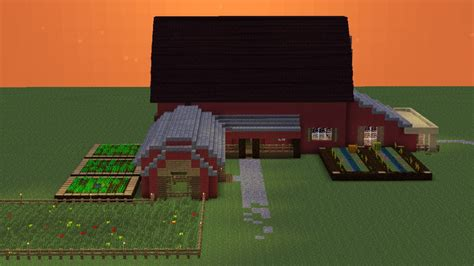 Small House Minecraft barn house minecraft project