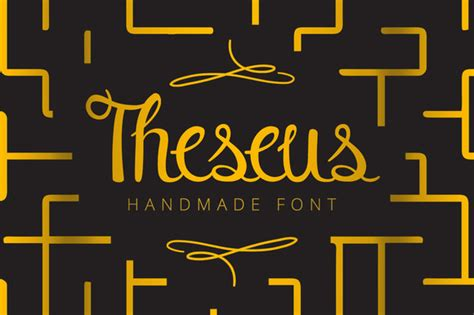 Font Handmade - theseus font by snk creative fabrica
