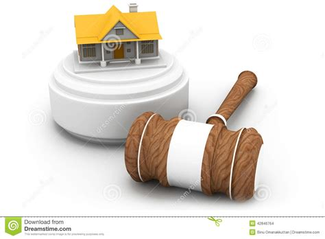 auction house real estate real estate auction house and gavel stock illustration image 42846764