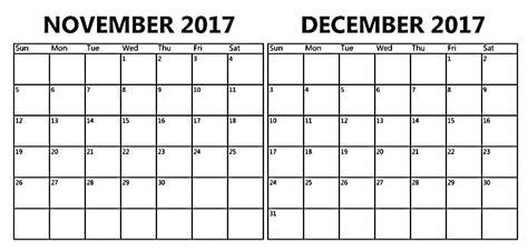 printable calendar november 2017 and december 2017 november december calendar calendar