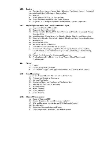 arousal template ap psychology syllabus