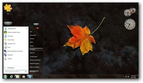 pc themes vikitech autumn theme for windows nature themes mini software
