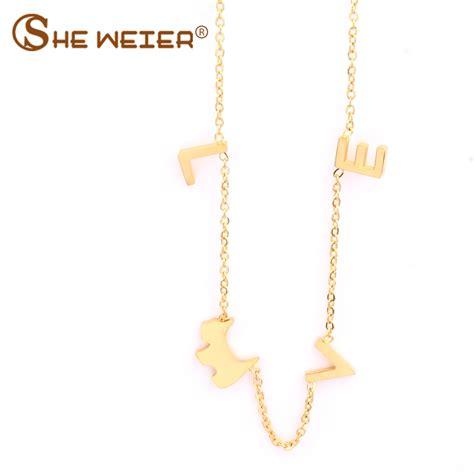she weier bts accessories bijoux stainless steel chain chocker collar best friends