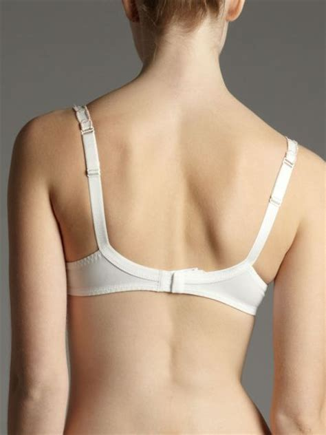 3 section cup bra lejaby caviar floral 3 section half cup bra in white lyst