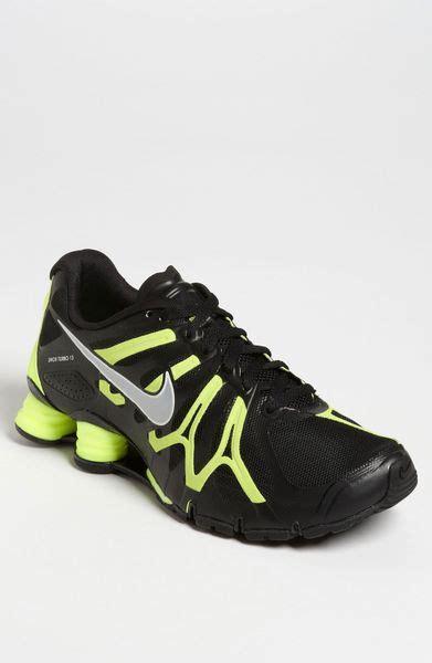 nike shox turbo 13 running shoe in black for black