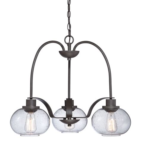 Vintage Style Pendant Lights 3 Light Hanging Ceiling Pendant Seeded Glass Shades And Vintage Bulbs