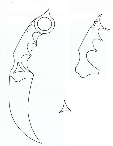Printable Karambit Template | image gallery karambit drawing