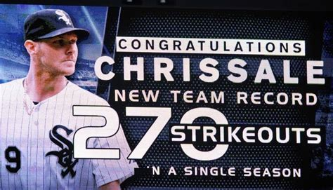 Sale Season Is Starting by Sale Sets Chicago White Sox Single Season Strikeout Record