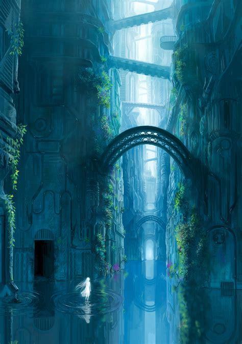 scenery zerochan anime image board