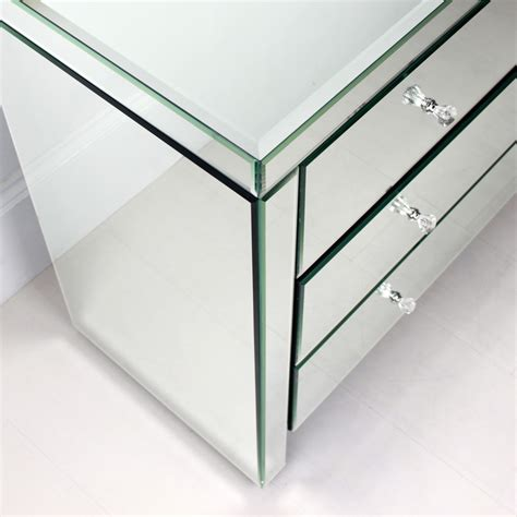 house of hton maisie mirrored 4 door chest reviews mirrored chest of 4 drawers bedroom chests of drawers