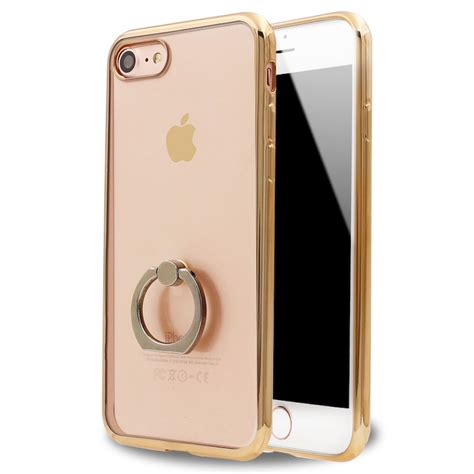 wholesale iphone 7 plus clear electroplate ring stand