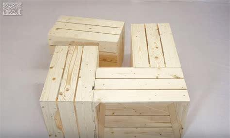 fabriquer une table basse avec des caisses de vin des id 233 es