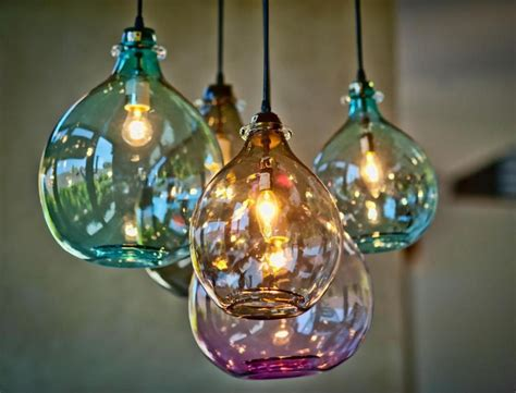 Pendant Lighting Colored Glass Awesome Colored Glass Pendant Lights Buzzard