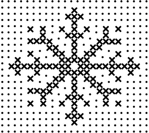 snowflake pattern cross stitch eclectic curiosities stitch snowflake