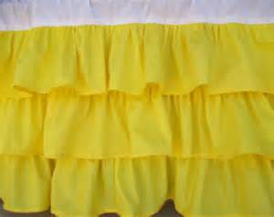 Bright Yellow Curtains Bright Yellow Ruffle Window Valance 55 Quot X16 Quot Ship Now