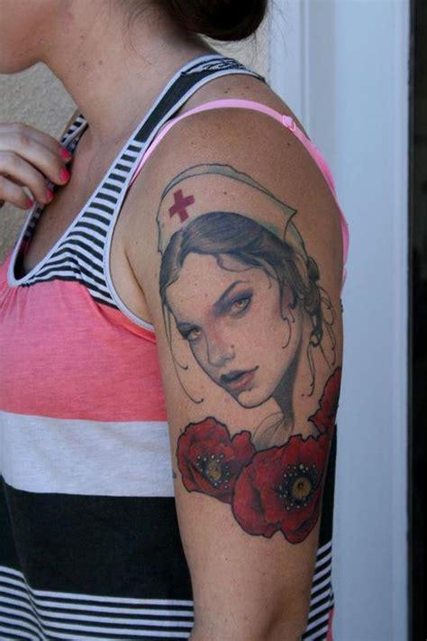 geisha nurse tattoo nurse and poppies by jeff norton tattoonow