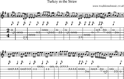 free printable sheet music turkey in the straw guitar tab and sheet music for turkey in the straw
