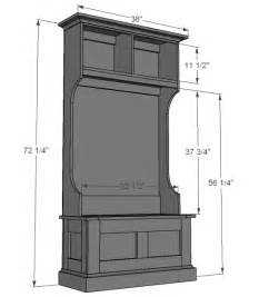 Entryway Hall Tree Storage Bench Hall Tree Plans Getting Began In Your Woodoperating