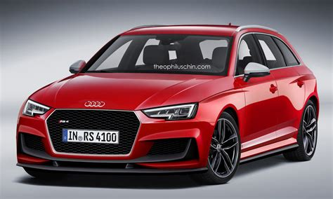 audie rs4 2017 audi rs4 avant imagined with new grille and aero parts