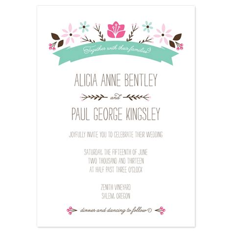 marriage invitation email letter sle wedding