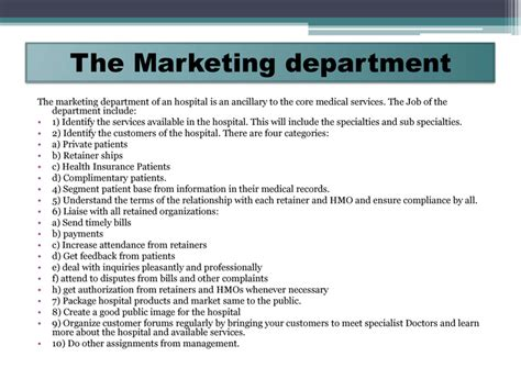 marketing plan for the healthcare company nursing home
