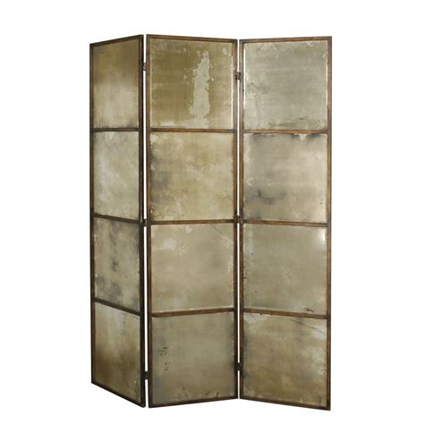 Mirror Room Divider 80 Quot X 63 Quot Avidan Mirrored 3 Panel Room Divider