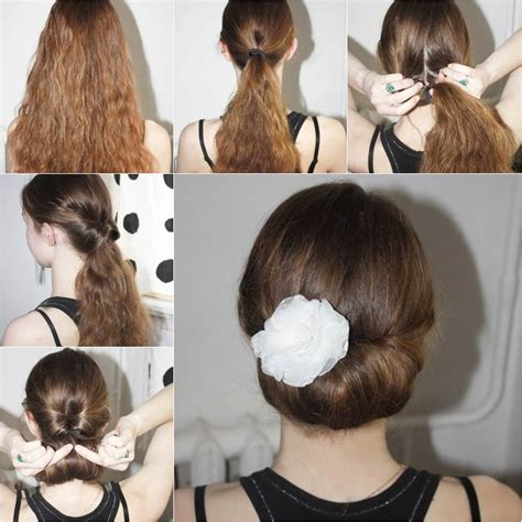 how to diy easy and bun hairstyle