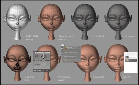 zbrush texturing tutorial pdf zapplink head texturing tutorial