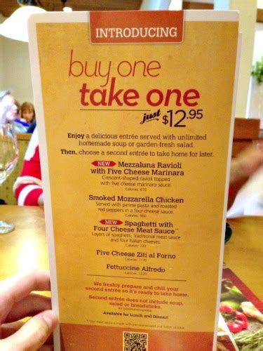 olive garden buy one take one menu items