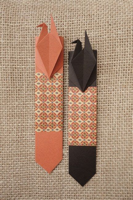 Origami Bookmark - paper crane bookmark origami boekenlegger diy