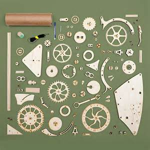 Free Wooden Clock Plans Pdf by Wooden Mechanical Clock Kit Thinkgeek