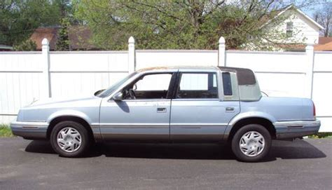 how to fix cars 1992 chrysler new yorker auto manual purchase used 1992 chrysler new yorker fifth avenue sedan 4 door 3 3l in jackson michigan