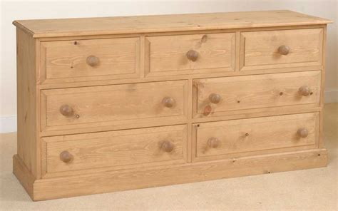 Unfinished Pine Chest Of Drawers malvern solid pine furniture wide chest of drawers ebay