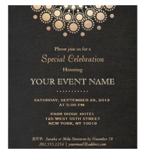 formal dinner invitation cards templates invitation template 43 free printable word pdf psd