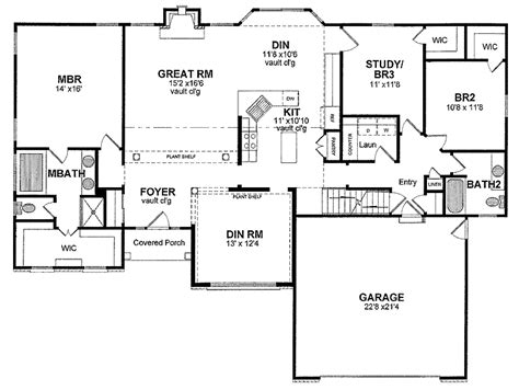 house plans one story ranch 301 moved permanently