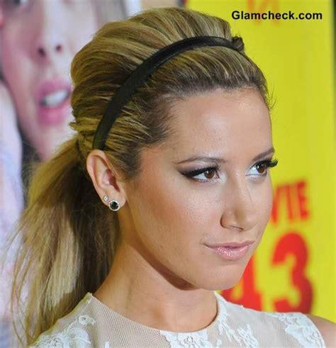 diy hairstyles with headband hairstyle diy wear ponytail with headband like ashley