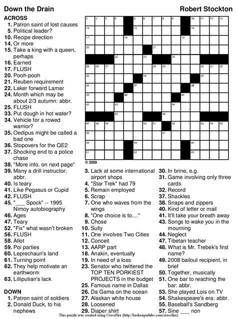 super easy printable crossword puzzles beekeeper crosswords