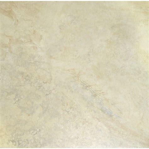 shop style selections mesa almond glazed porcelain indoor outdoor floor tile common 18 in x 18