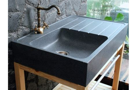 90x60cm genuine grey granite kitchen sink