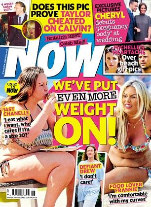 Magazine Gain Weight by Chanelle Insists She Would Be Happy At A Size 20