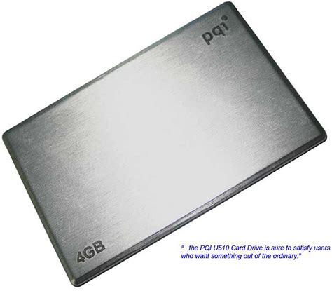 Pqis U510 Stylish And Thin Usb Card Drives by Looks Pqi U510 Card Drive Hardwarezone My