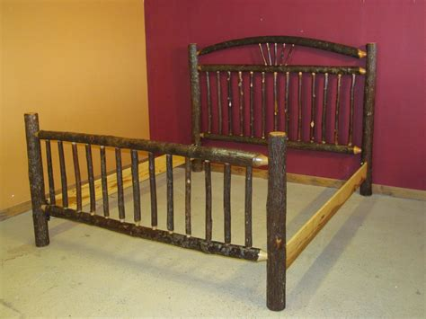 Hickory Log Bed Arched Wagon Wheel Hickory Log Bed Log Bed