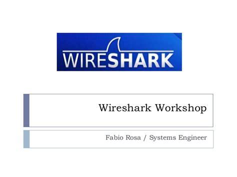 wireshark tutorial slideshare workshop wireshark