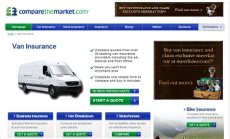 compare the market house insurance compare the marke van insurance telephone website email and address