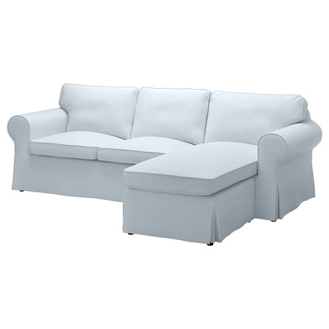 ektorp two seat sofa and chaise longue nordvalla light