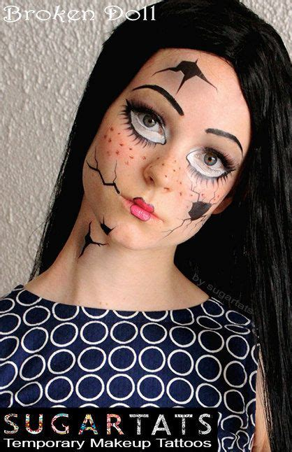 tattoo girl halloween costume broken doll temporary costume tattoos makeup halloween
