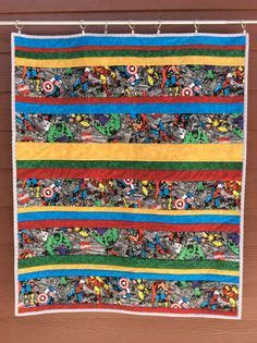 Set Overall Strippy the 93 best marvel quilts images on