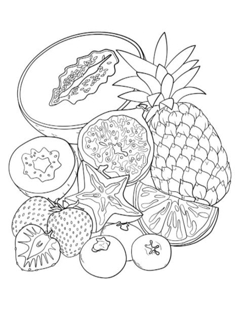 coloring pages for adults food fruit adult coloring pages google search pinteres